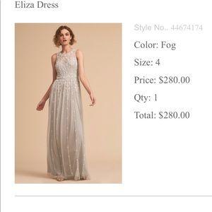 BHLDN line Eliza dress. Color is Fog.